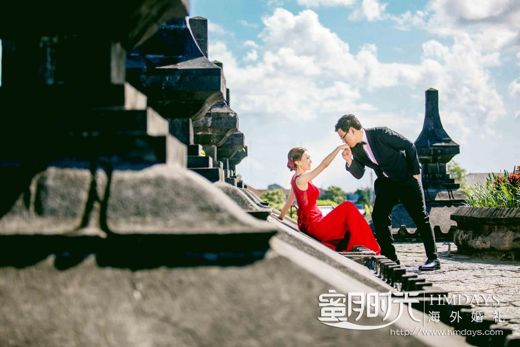 水之教堂婚礼+次日全天外景|巴厘岛雷诺宫殿婚纱照特写|海外婚礼