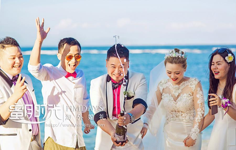 威斯汀沙滩婚礼|巴厘岛婚礼合影|海外婚礼