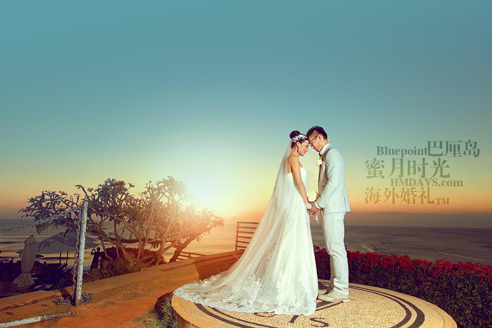 巴厘岛蓝点教堂婚礼--17:30档|海外婚纱摄影(蓝点)|海外婚礼
