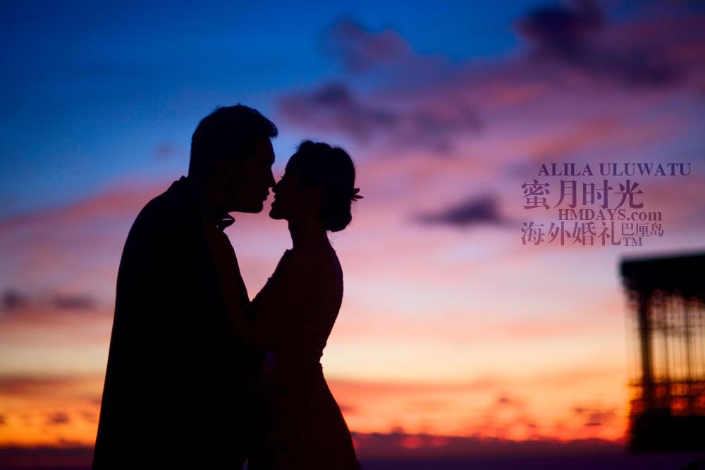 阿丽拉ALILA黄昏婚礼|绝美的巴厘岛婚纱拍摄剪影|海外婚礼