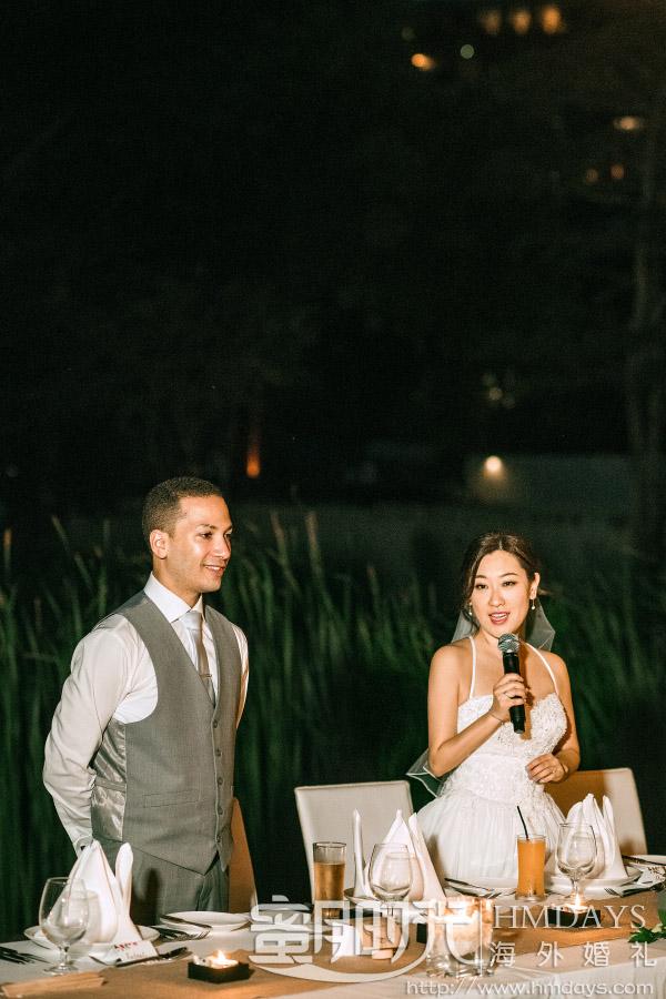 普吉岛纳卡海景草坪婚礼|感谢每一位到场的朋友_有你们的祝福我们好开心|海外婚礼