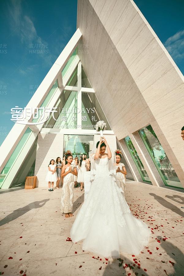 巴厘岛港丽无限教堂婚礼和晚宴 海外婚礼 海外婚纱摄影 照片