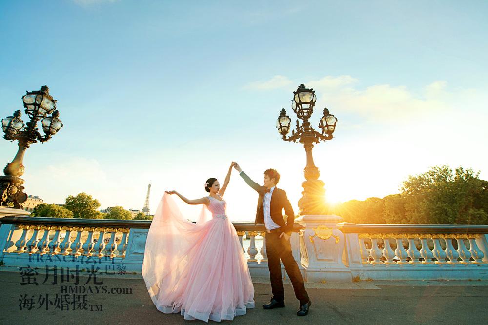 法国巴黎市区一日拍摄|巴黎婚纱照街头|海外婚礼