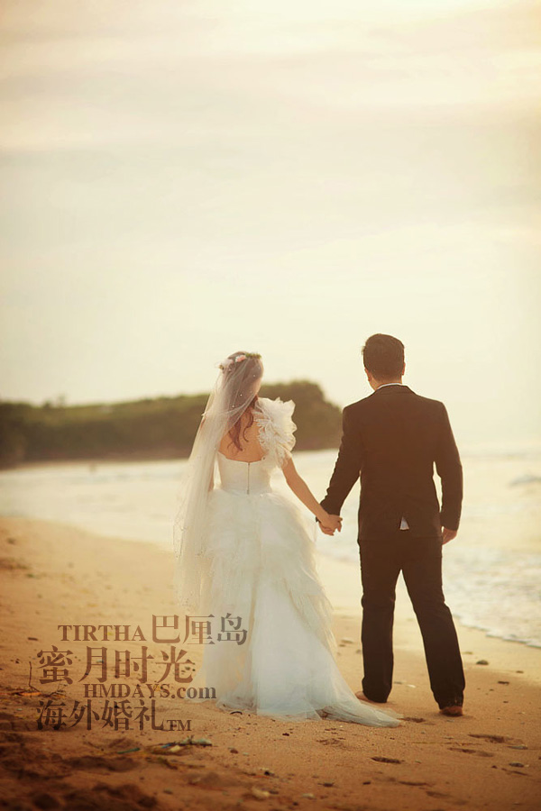巴厘岛水之教堂婚礼+巴厘岛半日外景婚纱摄影|巴厘岛婚纱摄影,相伴一生,白头偕老|海外婚礼