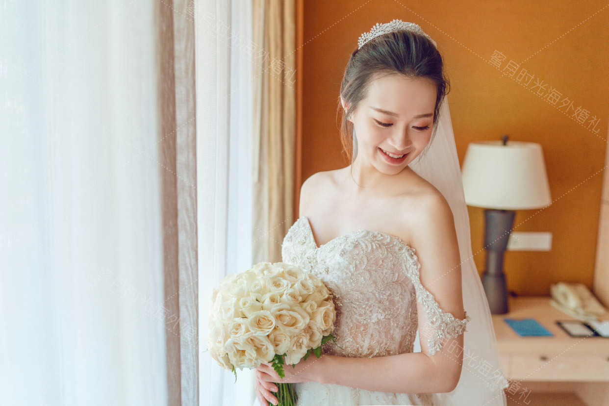 港丽无限教堂婚礼+升级布置|新娘宝宝真有点宋茜的感觉|海外婚礼