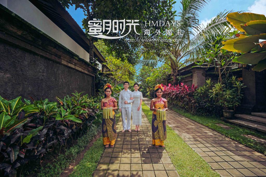 巴厘岛传统大婚婚礼婚纱照片|巴厘岛传统婚礼入场式|海外婚礼