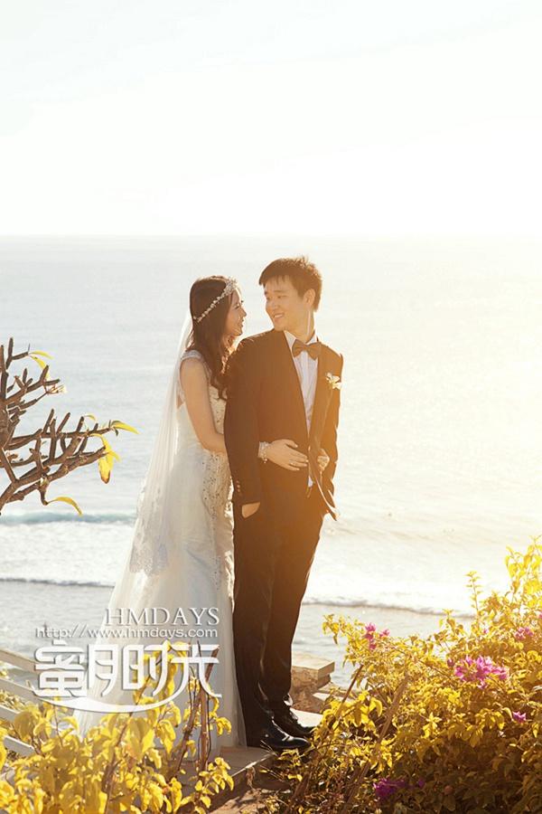 巴厘岛蓝点教堂婚礼婚纱照|甜蜜中|海外婚礼