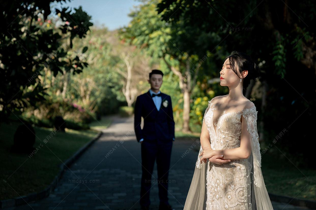 巴厘岛白鸽教堂婚礼客片(dove)悦榕庄