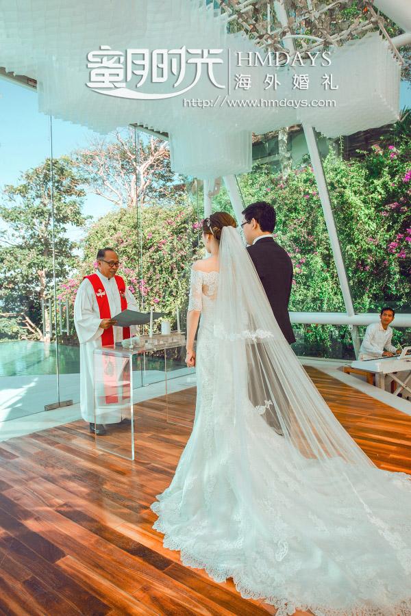 水之教堂婚礼+次日全天外景|聆听牧师的祝福|海外婚礼