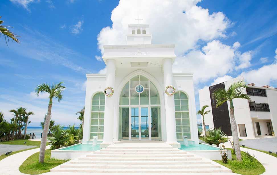 冲绳海教堂婚礼