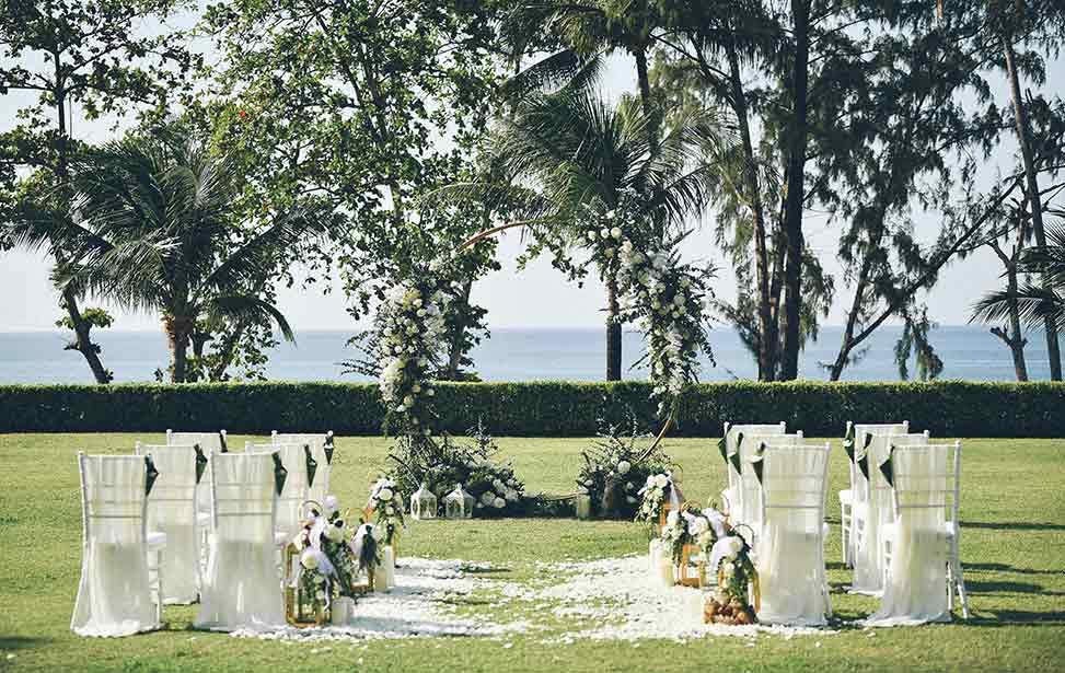 普吉岛卡马拉海景草坪婚礼 普吉岛卡马拉草坪婚礼 KAMALA