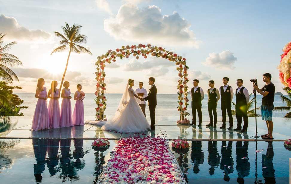 泰国苏梅岛康莱德婚礼|苏梅岛婚礼 苏梅岛康莱德水台婚礼 CONRAD KOH SAMUI
