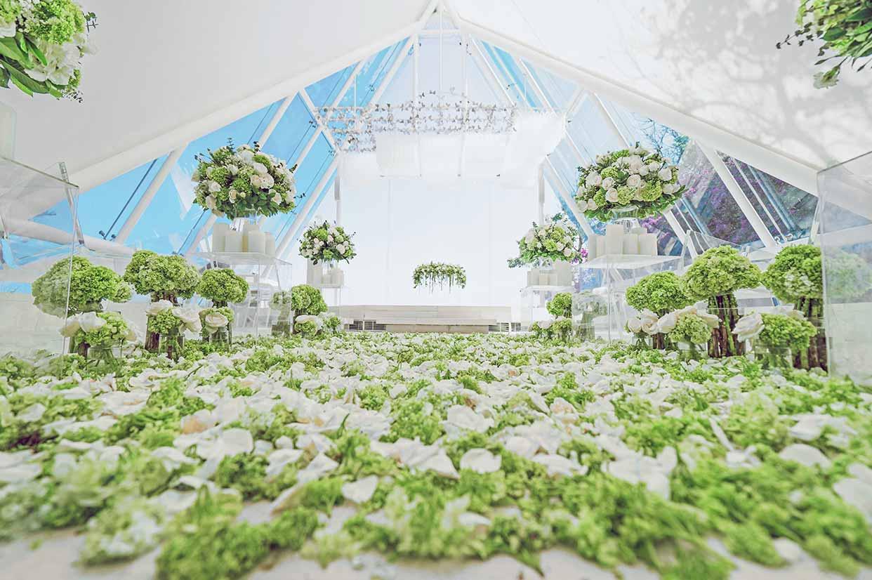 水之教堂婚礼布置 - GREEN CLOUD TIRTHA