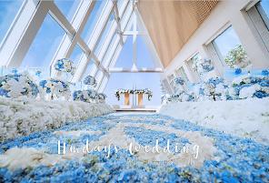 港丽酒店婚礼布置 - CRYSTAL BLUE|海外婚礼布置案例|海外婚礼晚宴