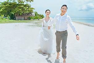 寸先生和蔡女士的巴厘岛珍珠教堂婚礼_海外婚礼