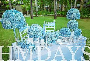 BABY BLUE|海外婚礼定制中高端布置案例|巴厘岛婚礼布置定制案例