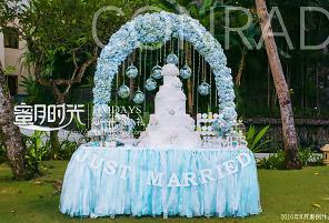 港丽酒店婚礼晚宴 - BLUE CORNER|海外婚礼布置案例|海外婚礼晚宴