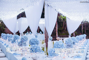 ICE BLUE|海外婚礼定制中高端布置案例|巴厘岛婚礼布置定制案例