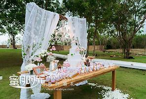 白色轻奢|海外婚礼定制中高端布置案例|巴厘岛婚礼布置定制案例