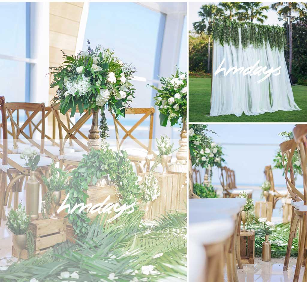 巴厘岛森林晚宴海外婚礼布置案例