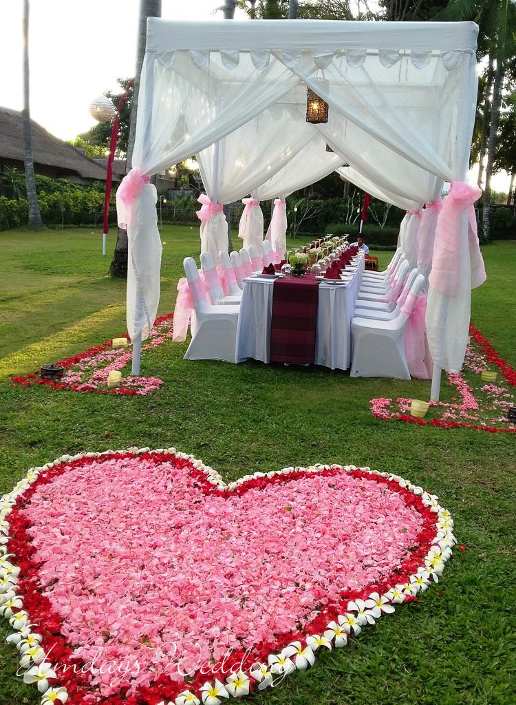 巴厘岛肉桂金巴兰婚礼晚宴布置 海外晚宴婚礼