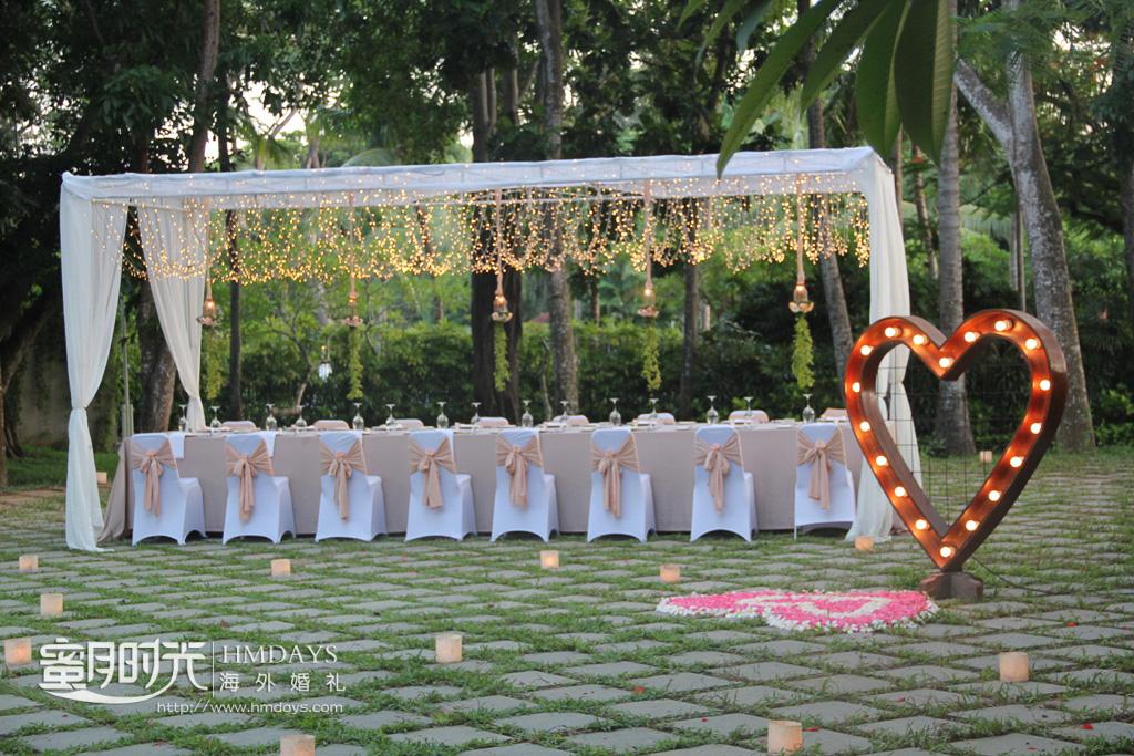 巴厘岛NUSA DUA森系花园晚宴 海外婚礼晚宴 kayumanis 2019