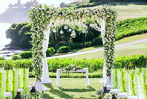 OCEAN GREEN|海外婚礼定制中高端布置案例|巴厘岛婚礼布置定制案例