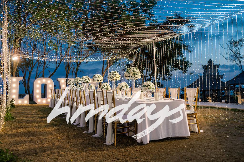 巴厘岛星星灯婚礼晚宴布置