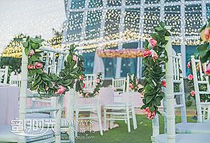 港丽酒店婚礼晚宴 - GREEN WHITE|海外婚礼布置案例|海外婚礼晚宴