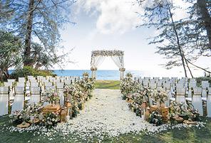 PHUKET BEACH LAWN|海外婚礼定制中高端布置案例|巴厘岛婚礼布置定制案例