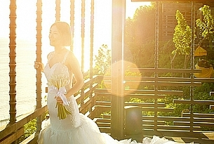 巴厘岛阿丽拉空中婚礼_海外婚礼
