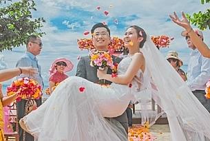 韩先生和张女士的巴厘岛肉桂沙滩婚礼_海外婚礼