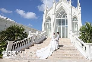 日本冲绳lazor教堂婚礼客片_海外婚礼