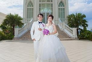 冲绳lazor教堂婚礼婚纱照片_海外婚礼