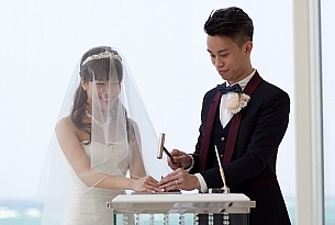 日本冲绳教堂婚礼照片Lazor拉索尔教堂_海外婚礼