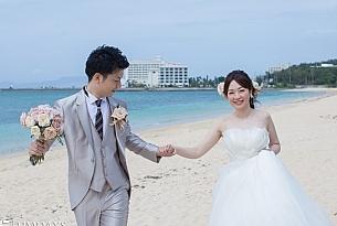 日本冲绳县露梅尔Monterey Lumer Church白色教堂婚礼客片_海外婚礼
