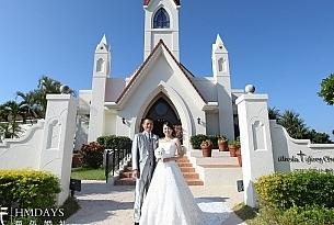 日本冲绳星耀教堂婚礼照片_海外婚礼