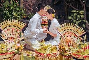 巴厘岛传统大婚婚礼婚纱照片_海外婚礼