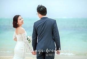 日本冲绳lumer教堂婚礼客片(吕先生和韩女士)_海外婚礼