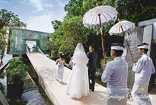巴厘岛水晶教堂婚礼客片_海外婚礼