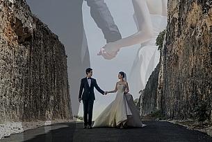 巴厘岛水之教堂婚礼婚纱照海报_海外婚礼