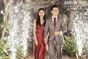 巴厘岛悦榕庄总统别墅水上婚礼电影海报_海外婚礼