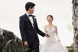 电影海报.戴先生和李女士的巴厘岛宝格丽婚礼_海外婚礼