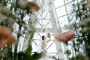 巴厘岛珍珠教堂婚礼客片_海外婚礼